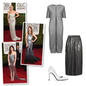 Με έμπνευση από τα Golden Globes: Σας προτείνουμε τα καλύτερα ασημί ρούχα και αξεσουάρ