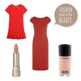 Fashion meets beauty: Συνδυάσαμε τα ωραιότερα κόκκινα φορέματα με nude χείλη και νύχια