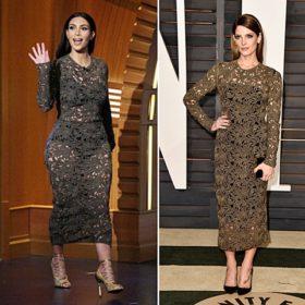 Ένα φόρεμα από δαντέλα, δύο γυναίκες. Ποια το φόρεσε καλύτερα;