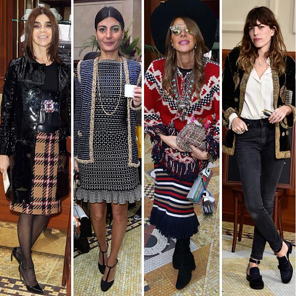 600x600, carine roitfeld, giovanna battaglia, anna dello russo, lou doillon, fashion show, paris fashion week, chanel, front row