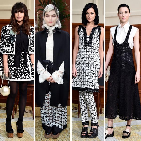 600x600, chanel, front row, paris fashion week, Miroslava Duma, Soko, Leigh Lezark, Loan Chabanol