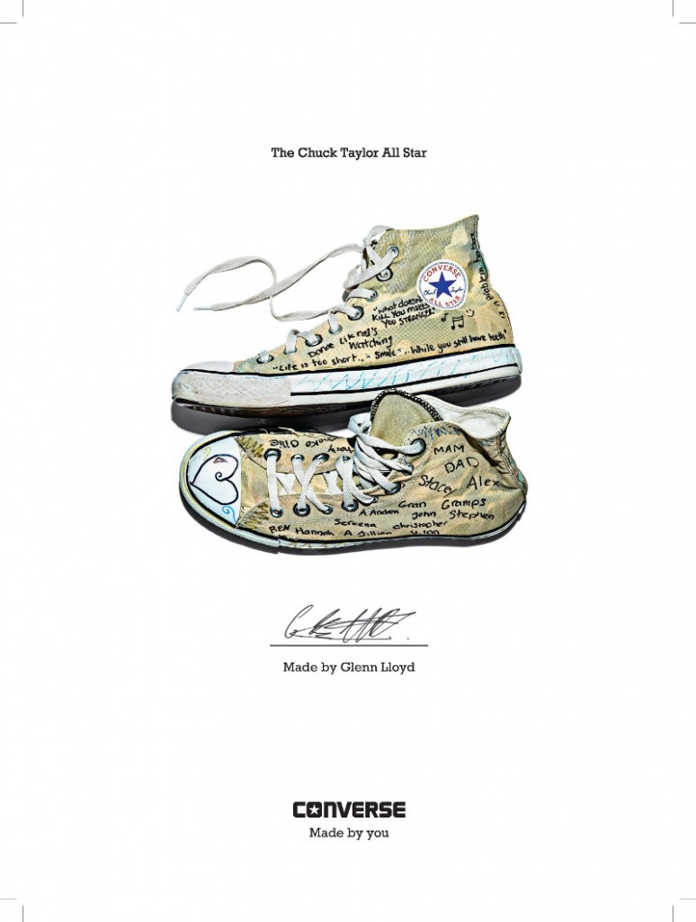 converse, campaign, made by you, chuck taylor, all star