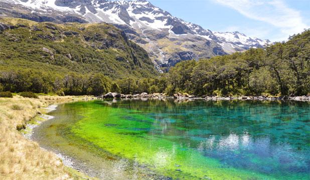 blue lake, new zealand