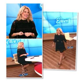 H Ελένη Μενεγάκη φοράει σήμερα το πιο stylish μικρό, μαύρο φόρεμα