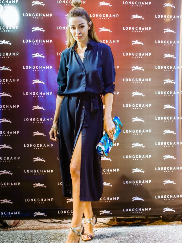 eleni foureira, le pliage personalized event longchamp kifisia