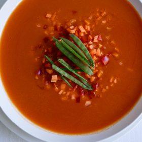 Ασιατική σούπα με γλυκοπατάτα