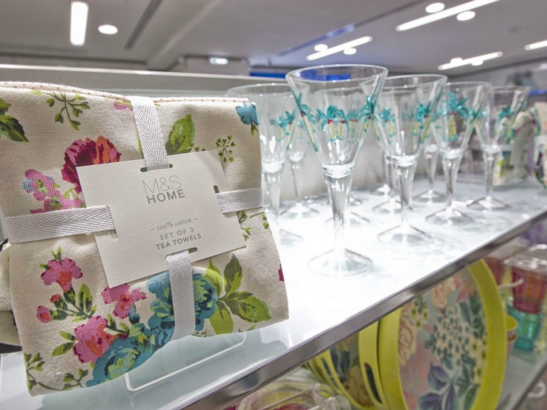 m&s home, marks and spencer, glass, tea towels