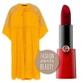 Fashion meets beauty: Συνδυάσαμε κίτρινα φορέματα με κόκκινα κραγιόν