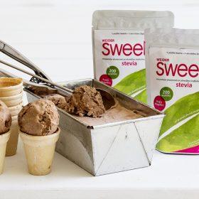 Παγωτό με καφέ και Sweete stevia