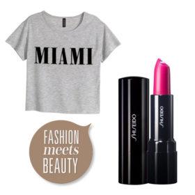 Fashion meets Beauty: T-shirts και κραγιόν, ο,τι πρέπει για καλοκαίρι