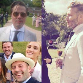 David Beckham- Brad Pitt- Jason Statham: Στον γάμο ποιου πασίγνωστου σκηνοθέτη έδωσαν το «παρών» οι πιο γοητευτικοί άντρες της showbiz;