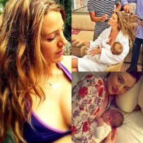 Γυναίκες που τολμούν: Οι επώνυμες μανούλες που δεν δίστασαν να θηλάσουν δημόσια το μωράκι τους