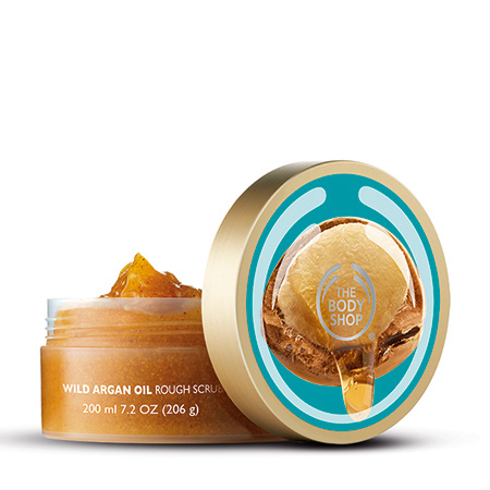 body scrub argan oil the body shop