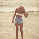 girl, beach