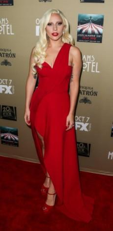 lady gaga, Brandon Maxwell – 'American Horror Story: Hotel' LA Premiere, kokkino forema