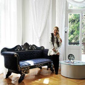 Τόνια Μητρούδη: Δείτε το υπέροχο eclectic chic σπίτι της σχεδιάστριας του brand Nidodileda