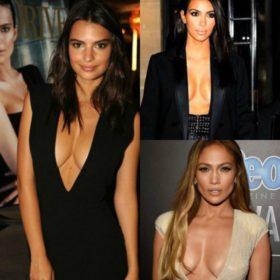 Πόσο χαμηλά μπορεί να πέσει ένα ντεκολτέ; Οι πιο προκλητικές celebrities με μεγάλο στήθος