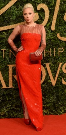 lady gaga, tom ford, british fashion awards, mosaic, look of the day