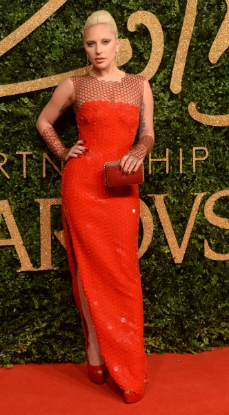 lady gaga, tom ford, british fashion awards, mosaic, look of the day