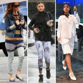 It' s raining style! Πώς ντύνονται οι γυναίκες celebrities στη βροχή