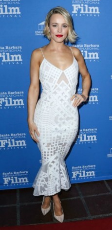 mosaic, look of the day, rachel mcadams, Dress – Jonathan Simkhai Shoes – Christian Louboutin, 31st Annual SBIFF - American Riviera Award
