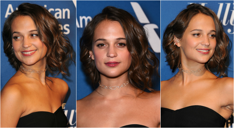 alicia vikander faux bob hair