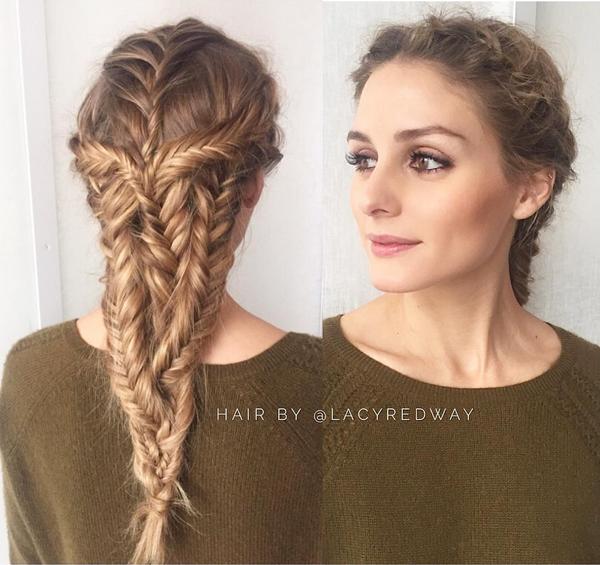 OLIVIA PALERMO BRAIDED HAIR