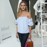 olivia palermo, off the shoulder top