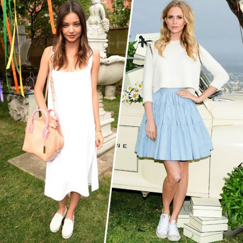 White sneakers  Φορέστε τα πιο βολικά παπούτσια όπως οι πιο στιλάτες ... 9d250346fab