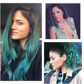 #mermaidhairdontcare: Η Μαίρη Συνατσάκη μας δίνει ιδέες για τέλεια χτενίσματα σε χρωματιστά μαλλιά