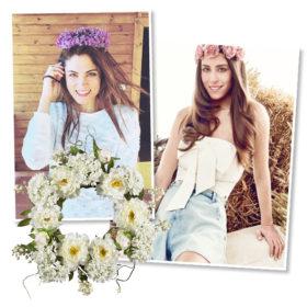 Τα κορίτσια του Μάη: 9 Ελληνίδες celebrities φοράνε λουλούδια στα μαλλιά