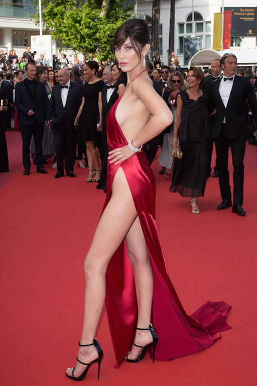 Bella Hadid attends the premiere of La Fille Inconnue, Cannes, France
