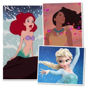 Πώς θα ήταν οι πριγκίπισσες της Disney αν είχαν ρεαλιστικά μαλλιά;