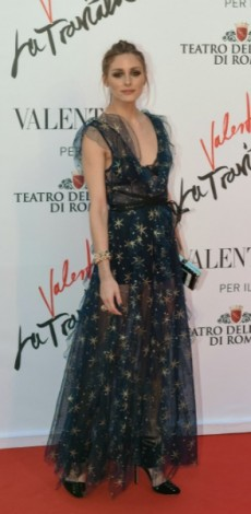 olivia palermo, mosaic, look of the day, valentino, Red carpet of La Traviata directed by Sofia Coppola with costumes designed by Valentino Garavani at the Teatro dell'Opera in Rome