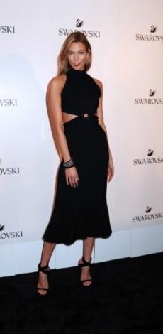 "karlie kloss, mosaic, look of the day, mosaic, Karlie Kloss attends the Swarovski ""bebrilliant"" Party Celebrating Karlie Kloss As New Brand Ambrassador"