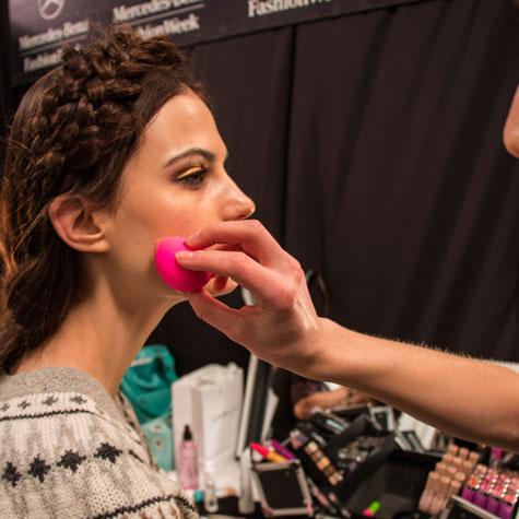 beauty blender, model, backstage