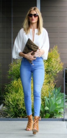 rosie huntington whiteley, tzin, lefki mplouza, Jewelry Anita Ko Ring – Neil Lane Shirt – Chloe Purse – Givenchy Pants – Paige Shoes – Rossi, mosaic, look of the day