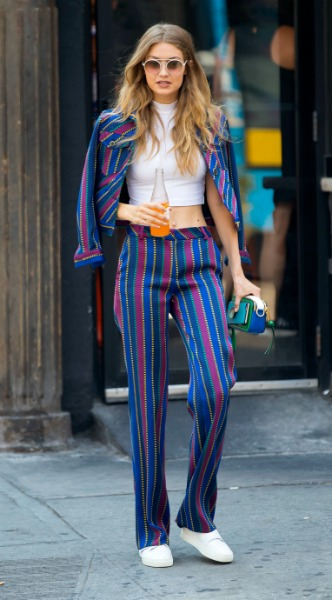gigi hadid,rige, Tommy Hilfiger,mosaic, look of the day