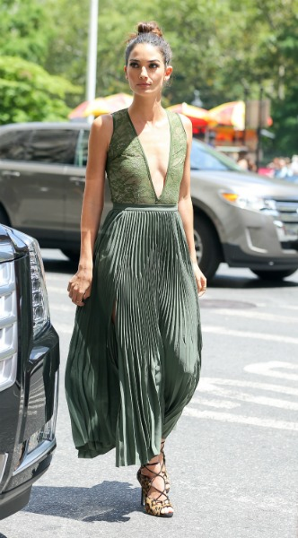 lily aldridge, Shirt – Victoria's Secret Shoes – Tabitha Simmons Skirt – Theory Laire Jewelry – EF Collection, mosaic, look of the day