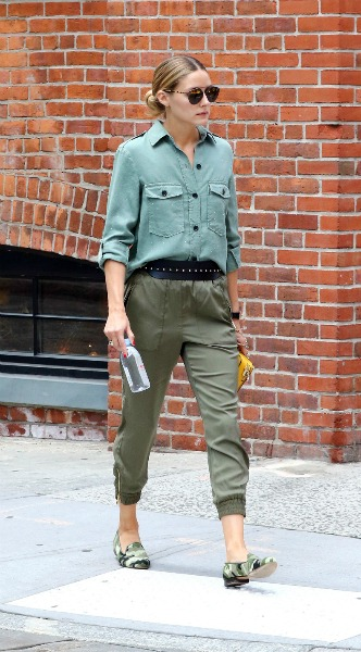olivia palermo, military, mosaic, look of the day, zara