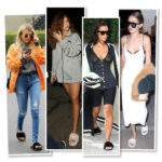 fur slides, celebrities