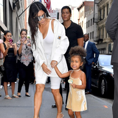 Kim Kardashian and North West seen in New York City
