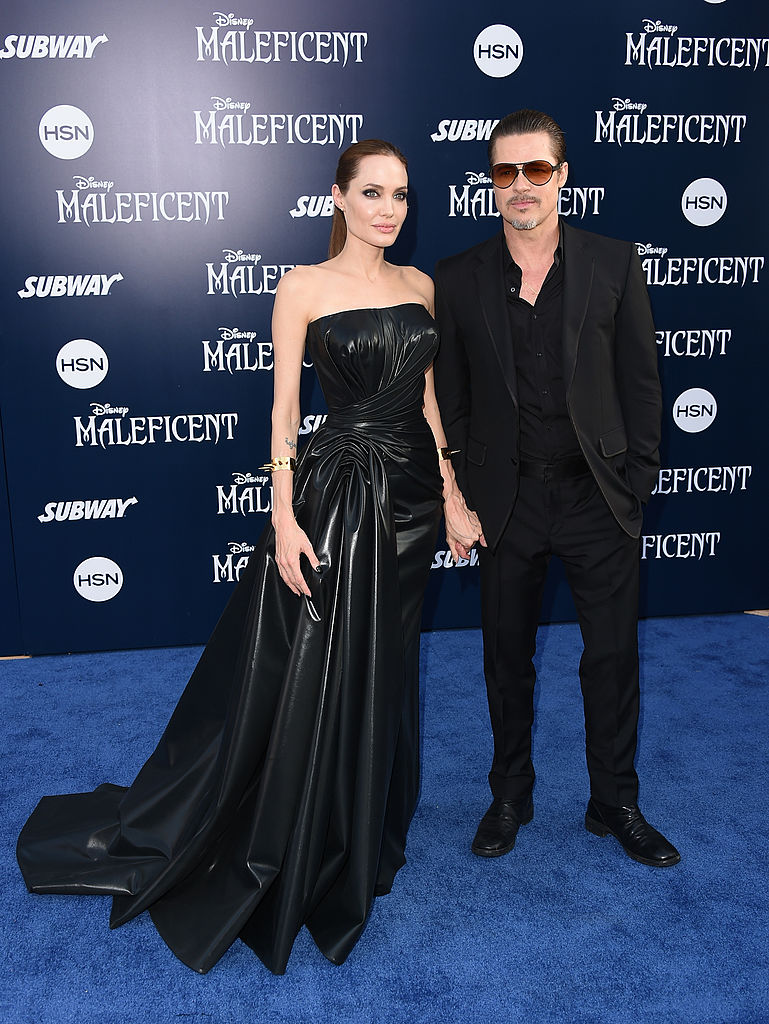 angelina jolie, brad pitt, maleficent