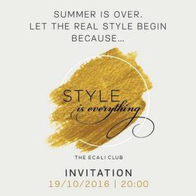 Κερδίστε προσκλήσεις για το μεγάλο style event του Ecali Club