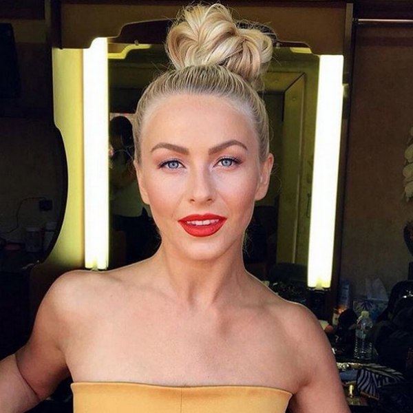 Julianne Hough, bun, braided bun
