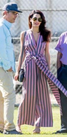 amal clooney, stripes, olosomi forma, mosaic, look of the day