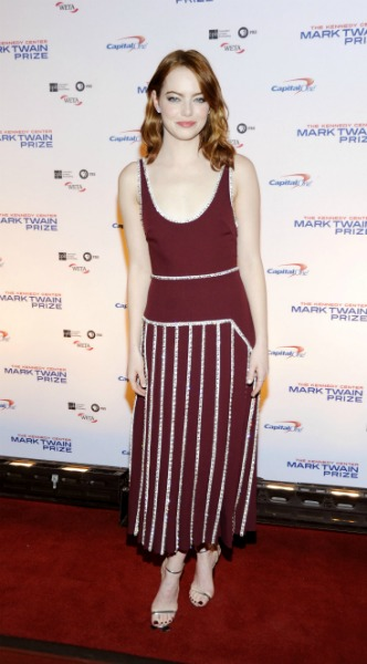 emma stone, : Bill Murray is the recipient of the 19th Annual Mark Twain Prize for American Humor, mosaic, look of the day, Prada