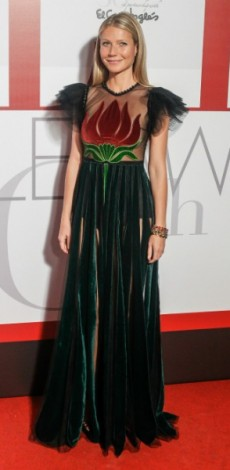 gwyneth paltrow, elle awards, gucci, mosaic, look of the day