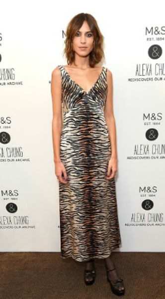 alexa chung, look of the day, mosaic, m&s