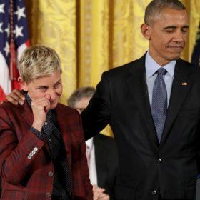 H Ellen DeGeneres ξεσπά σε κλάματα δίπλα στο Barack Obama για έναν υπέροχο λόγο
